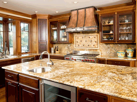Kitchen With Granite Island And L Shaped Counter Sink Bob S Place