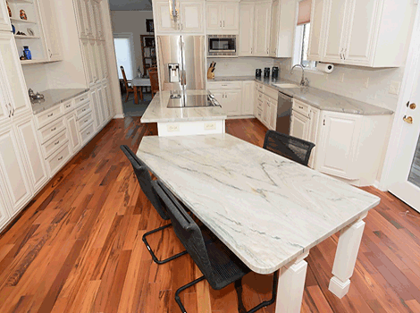 Quartz Countertop, Dual Island With Island Stove And L Counter Sink, Andover