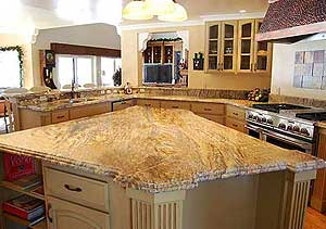 Granite Countertop with Waterfall Edges