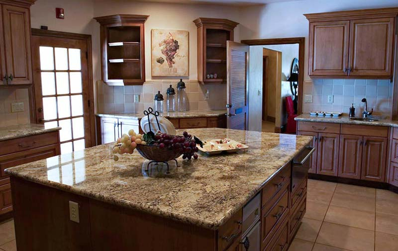 black granite countertops installed from 2999sf - Granite Kitchen Countertops