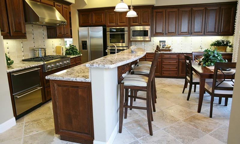 Bianco Sardo Granite Countertop Kitchen.